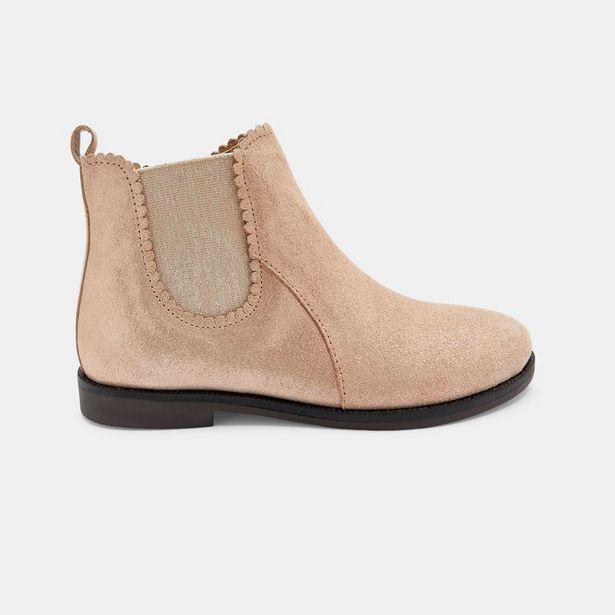 Boots chelsea cuir irisé festonnées offre à 42,99€