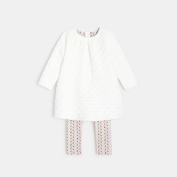 Robe maille quiltée et legging offre à 25,99€
