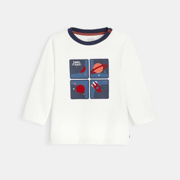 T-shirt maille piquée motif planètes offre à 9,99€