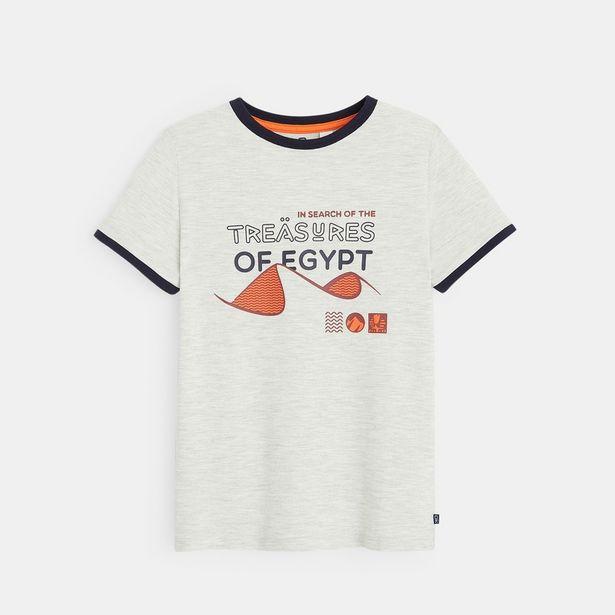 T-shirt maille piquée à motif offre à 6€