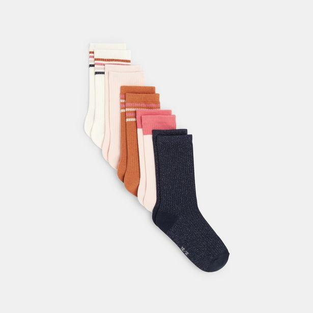 Chaussettes en maille côtelée (lot de 5) offre à 6,99€