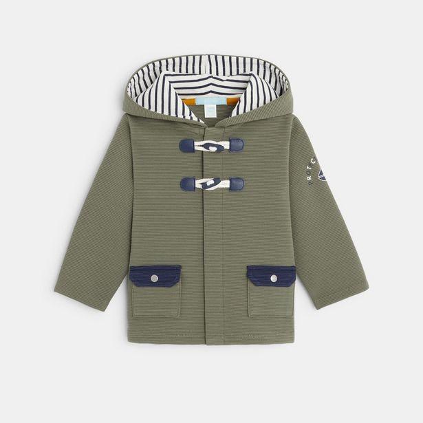 Manteau marin en maille côtelée offre à 19,99€