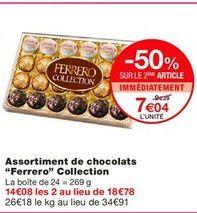"""Assortiment de chocolats """"Ferrero"""" Collection offre à 9,39€"""