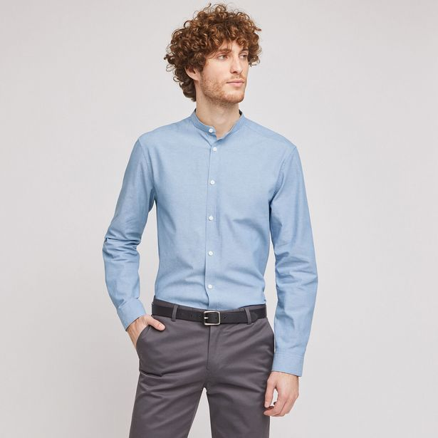 Chemise regular col mao chambray offre à 20€