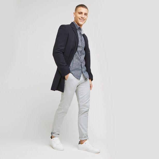 Pantalon chino slim fantaisie offre à 25€