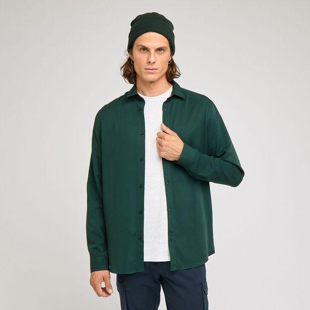 Chemise regular unie tencel offre à 20€