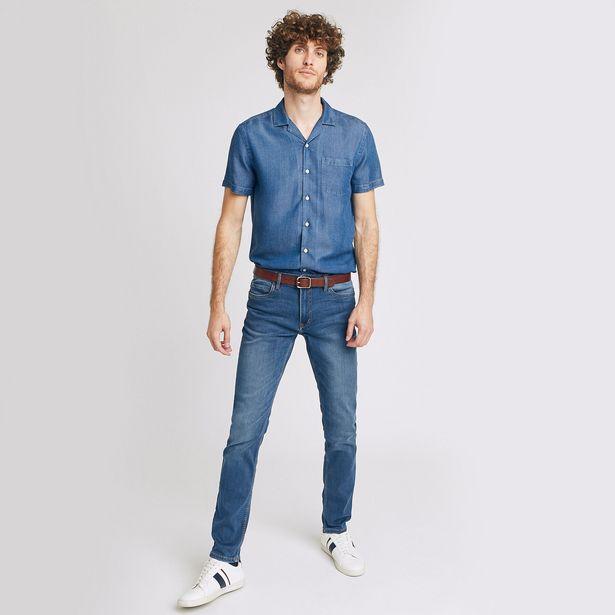 Jean slim #Tom urbanflex 4 longueurs bleu grisé offre à 34,99€