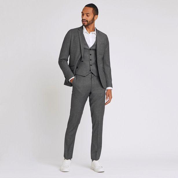 Pantalon de costume slim matière reliefée offre à 30€