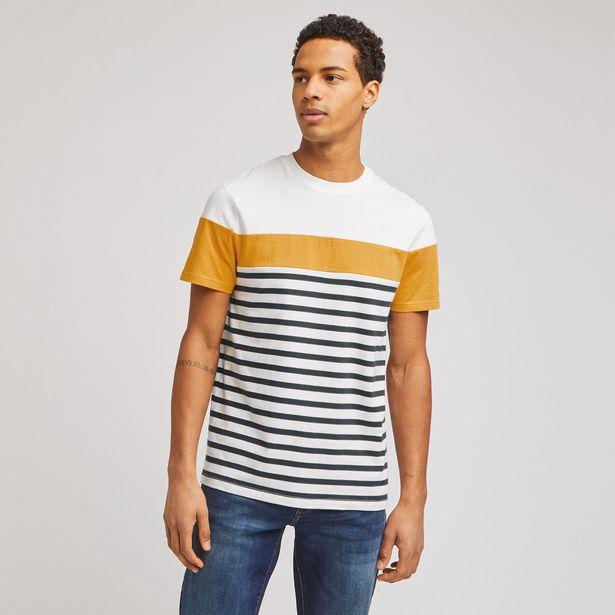 Tee-shirt marinière colorblock coton issu de l'agr offre à 10€