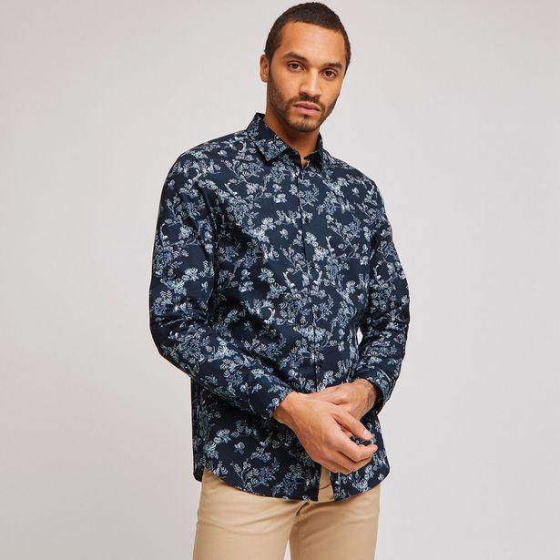 Chemise regular popeline motif fleuri offre à 10€
