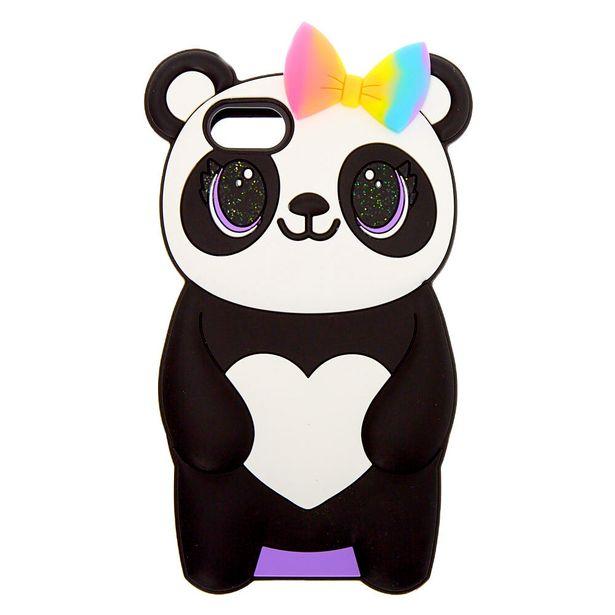 Coque de portable en silicone panda à nœud papillon - Compatible avec iPhone® 5/5S offre à 3€