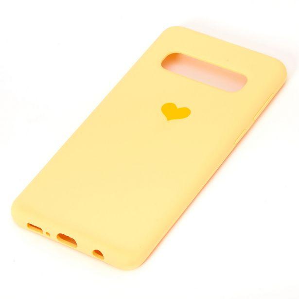 Coque de portable cœur jaune - Compatible avec Samsung GalaxyS10 offre à 3€