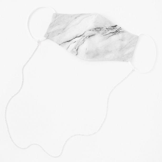 Cordon tour de cou en chaîne pour masque avec strass couleur argentée offre à 2€