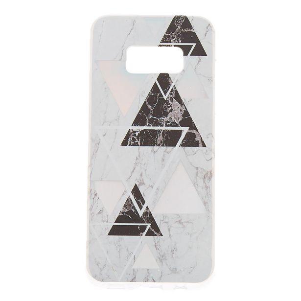 Coque de portable géométrique effet marbré - Compatible avec Samsung GalaxyS8 offre à 5€