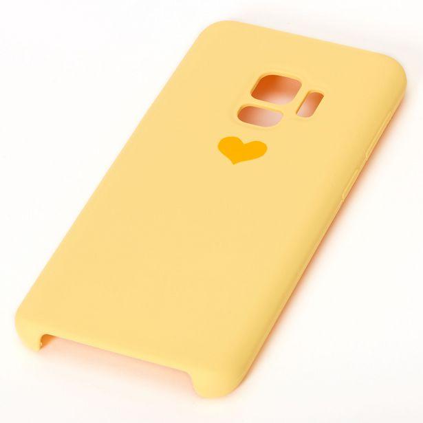 Coque de portable jaune avec cœur - Compatible avec Samsung Galaxy S9 offre à 3€