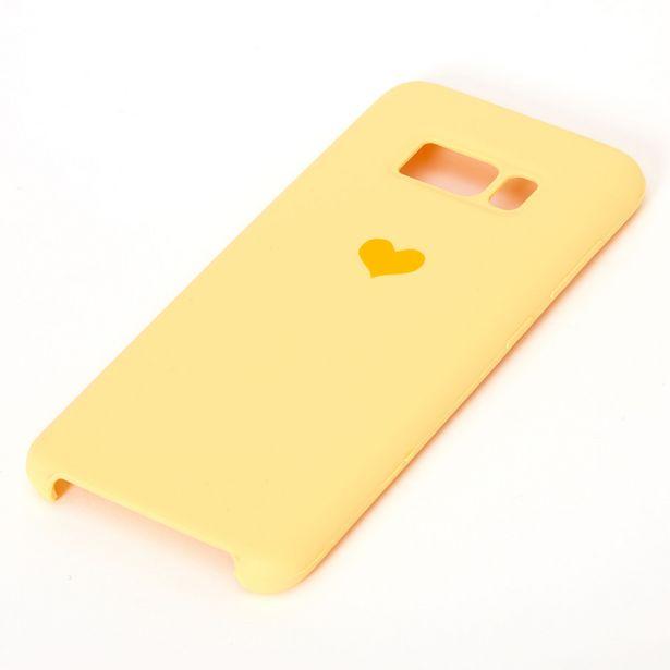 Coque de portable jaune avec cœur - Compatible avec Samsung Galaxy S8 offre à 3€