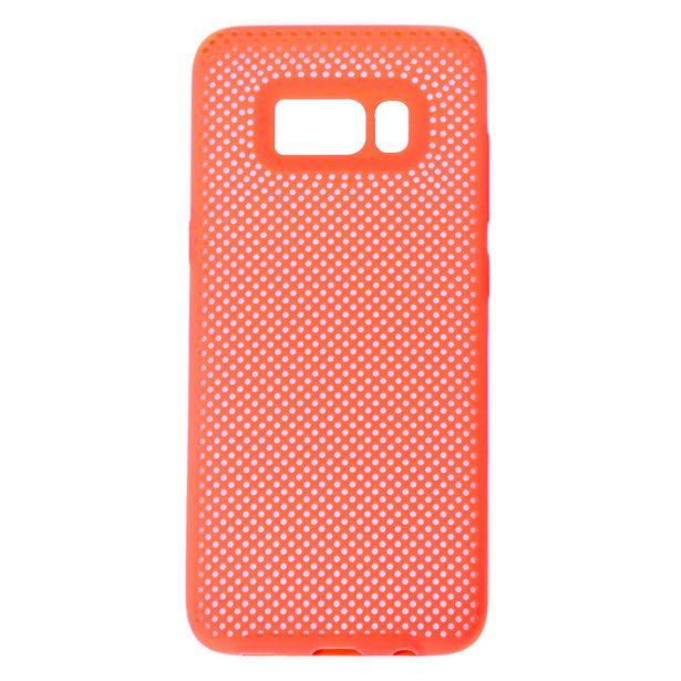 Coque de portable perforée corail fluo - Compatible avec Samsung GalaxyS8 offre à 3€