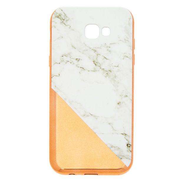 Coque de protection pour portable effet marbré couleur doré rose - Compatible avec Samsung GalaxyA7 offre à 5€