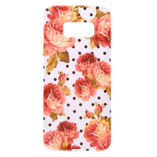 Coque de portable à pois florale - Compatible avec Samsung GalaxyS8 offre à 3€
