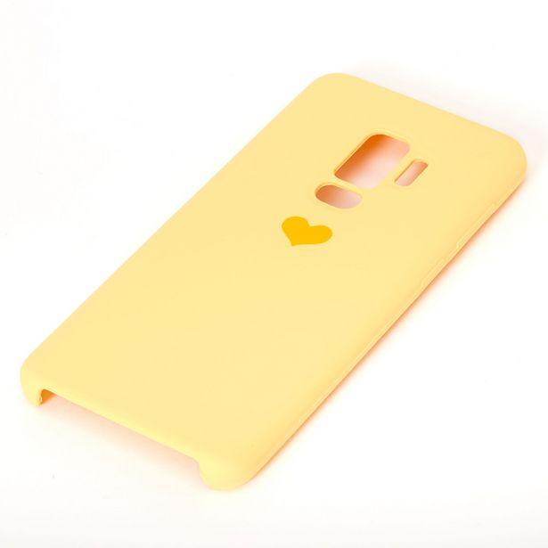 Coque de portable jaune avec cœur - Compatible avec Samsung GalaxyS9 Plus offre à 3€