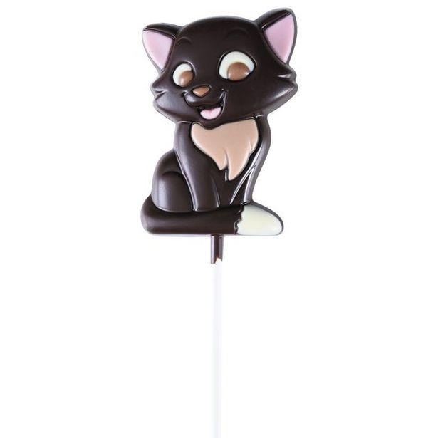 Choco'cette Chat chocolat noir offre à 2,5€