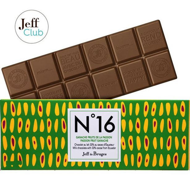Tablette N°16 Chocolat au lait 33%, fruits de la passion offre à 3,9€