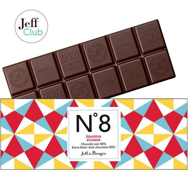Tablette N°8 Chocolat noir 80% Équateur offre à 3,9€