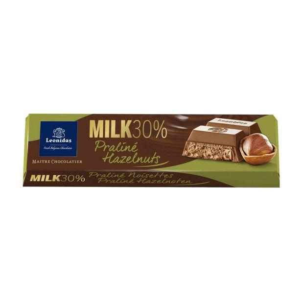 Leonidas Bâton Chocolat Au Lait Praliné Noisettes, 5pcs offre à 9,5€