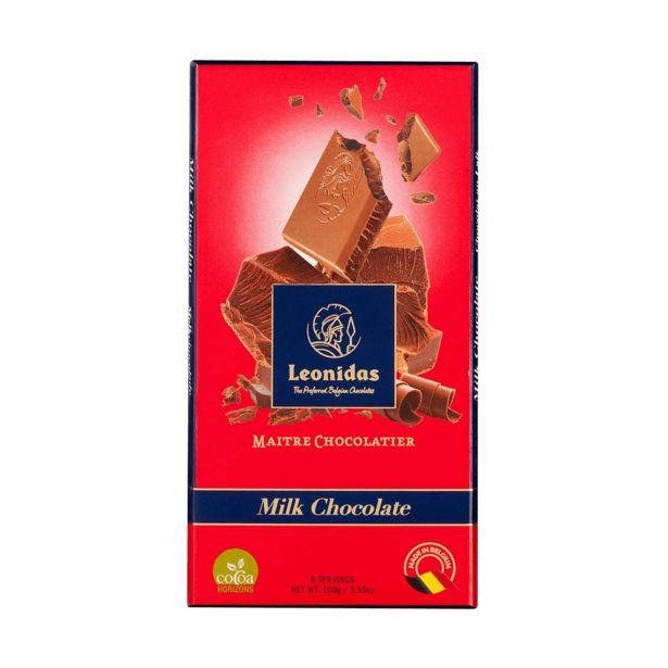 Leonidas Tablette Chocolat Au Lait 30%, 5 x 100g offre à 17€