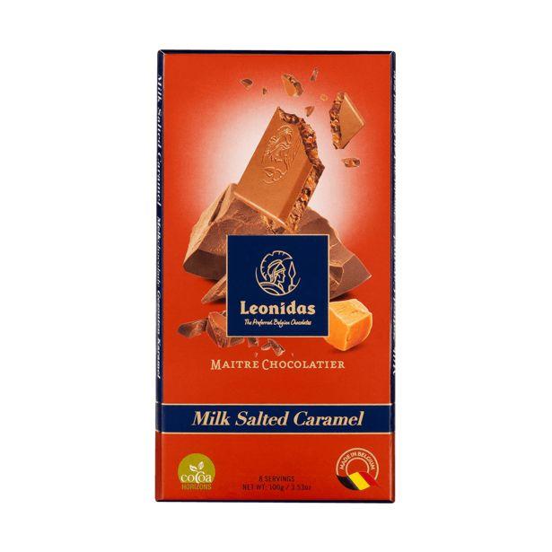 Leonidas Tablette Chocolat Au Lait 30% Au Caramel Salé, 5 x 100g offre à 17€
