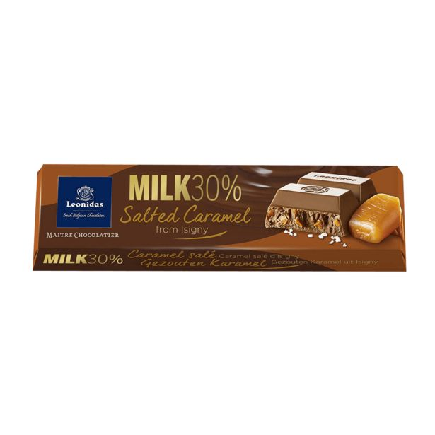 Leonidas Bâton Chocolat Au Lait Au Caramel Salé, 5pcs offre à 9,5€