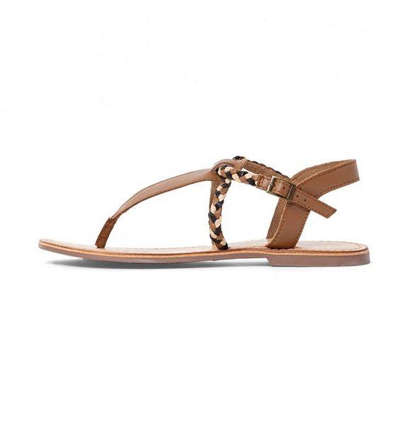 Sandales entre-doigts en cuir offre à 15€