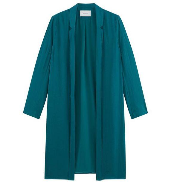 Longue veste soyeuse Femme offre à 20€
