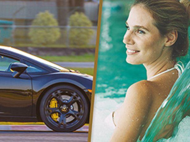 Pilotage Lamborghini 4 tours et parenthèse douceur au spa offre à 335,84€