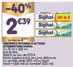 Dentifrice Signal offre à 2,39€