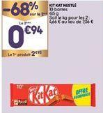 Gaufres au chocolat Kit kat offre à 1,93€