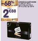 Café moulu Carte noire offre à 5,93€