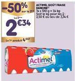 Lait Actimel offre à 3,46€