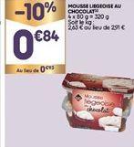 Mousse au chocolat offre à 0,84€