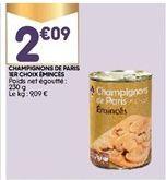 Champignons de Paris offre à 2,09€