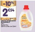 Lessive liquide offre à 2,54€