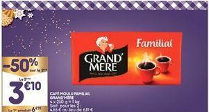 Café moulu Grand'Mère offre à 4,64€