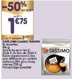 Capsules de café Tassimo offre à 2,62€