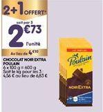 Chocolat noir Poulain offre à 2,73€
