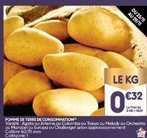 Pommes de terre offre à 0,32€