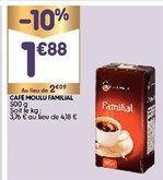 Café moulu offre à 1,88€