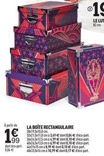 LA BOÎTE RECTANGULAIRE offre à 1,99€