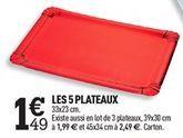 LES 5 PLATEAUX offre à 1,49€