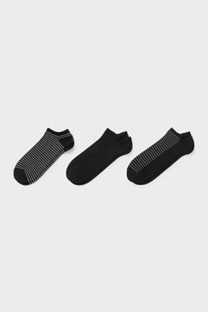 Lot de 3 - chaussettes de sport - coton bio - aloe vera offre à 2,99€