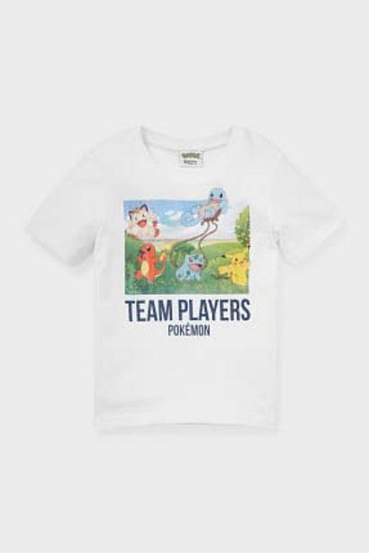 Pokémon - T-shirt - coton bio offre à 2,99€